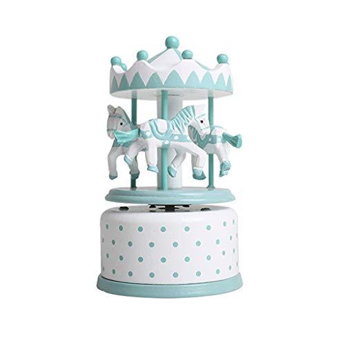 GYQWJPC Scatola di Musica Classico Carillon Rotante, Carillon Intagliato a Mano, Regalo Perfetto for Bambini, Ragazze, Amici .Utilizzato Come Regali di Compleanno, Regali Nata (Color : Green)