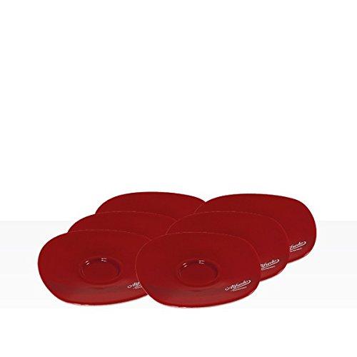 Alfredo Walküre Espresso-Untertassen 6 Stk, rot