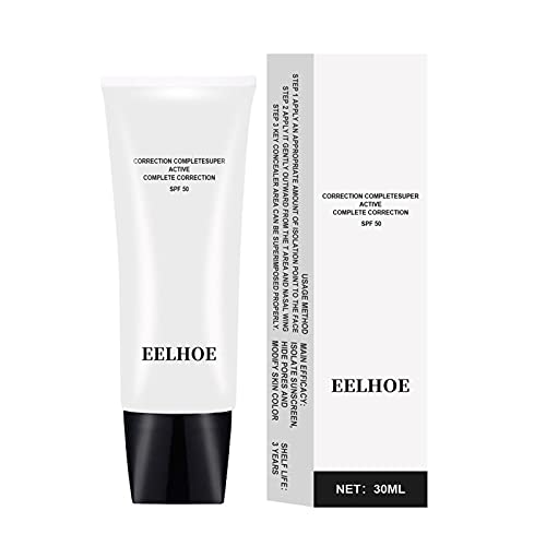Teckey Base líquida de 30 ml de Cobertura Total, Base de Maquillaje de Base, Corrector líquido hidratante para la Cara, hidratante Facial de 24 Horas de duración