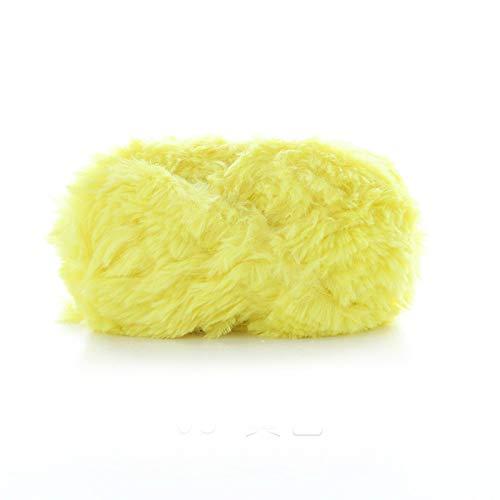 KOMOSO Manta de punto de ganchillo suave y cálido, de hilo simple, cómodo, de moda, suave, sedoso, ideal para manualidades, hilo de ante, 1 unidad