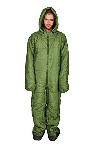 Hygger Nanuk Garden Green L - Original Schlafsack mit Armen und Beinen, 3M Thinsulate-Füllmaterial ist Ultra warm, leicht und klein im Packmaß