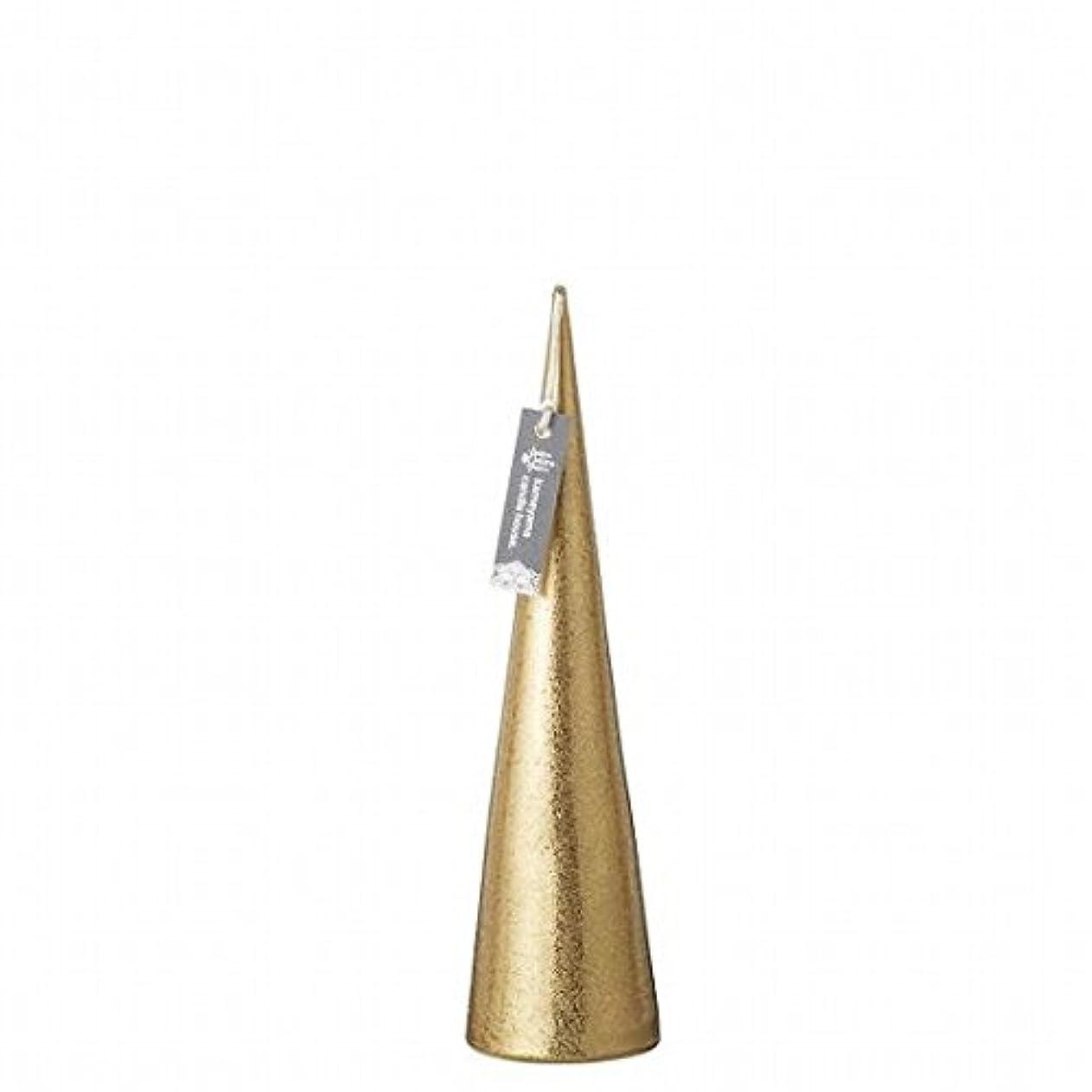 知覚するすごいブランドkameyama candle(カメヤマキャンドル) メタリックコーンM「 ゴールド 」(A9560110GO)