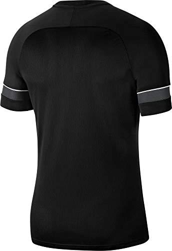 Nike Dri-Fit Academy 21, Maglia Manica Corta Uomo, Nero/Bianco/Antracite/Bianco, L