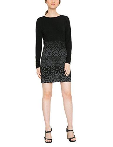 Desigual Damen Kleid VEST_GRANADA 17WWVF08, Schwarz (Negro 2000), Gr. S (Herstellergröße:M)