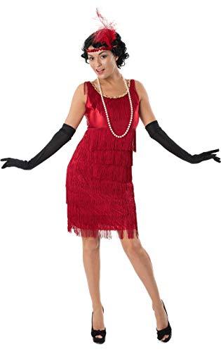 ORION COSTUMES Damen 1920er Jahre Rotes Flapper Maskenkostüm mit Quasten