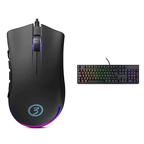 Oferta de OZONE GAMING Gear Raton Gaming Ozone Exon X90 - Esports Mouse Gaming + Teclado Alliance Híbrido Mecanico - Keyboard Gamer - Silencioso, Numerico, Layout Español