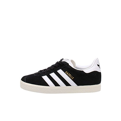 adidas Gazelle, Zapatillas Unisex Niños, Negro (Core Black/Ftwr White/Gold Metallic), 32 EU