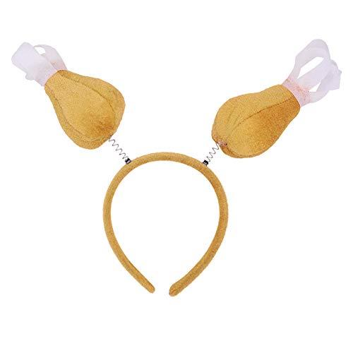 Bmakup 10 Stück Thanksgiving Day Turban Dekoratives Kopftuch Truthahn Kopfschmuck Cosplay Stütze Hut Cartoon Türkei Stirnband Party Prom