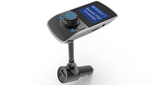 Multifunctionele Car Bluetooth Receiver, FM-Zender Met Handsfree Call Ingebouwde Microfoon Cvc Noise Handling, Can USB Opladen/Auto Muziek, 12V-24V Car Universal