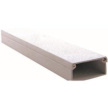 Pack de 10 unidades de canaleta blanca para cable el/éctrico sin adhesivo 2000x12mm x 12mm
