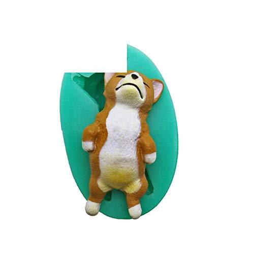 DACCU nieuwe 2 cartoon cat siliconen fondant cake decoreren tools dier snoep maken hond modellering chocoladevorm Sugarcraft Tonform