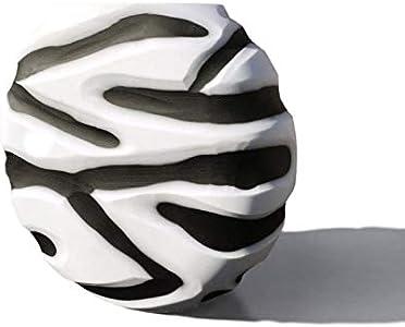 YourMurano, Jarrón moderno en forma redonda, diseño veneciano, obra de arte original, Delia