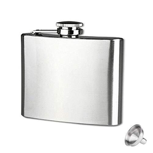 Bumpy Road Edelstahl-Flachmann mit Trichter für Schnaps-Whisky-Wein 4-18 OZ Tragbare Taschenflaschen für den Außenbereich Alkoholflasche