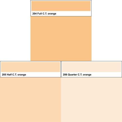 Lee Farbfolien C.T. Orange 204 205 206 50cm x 123cm Set