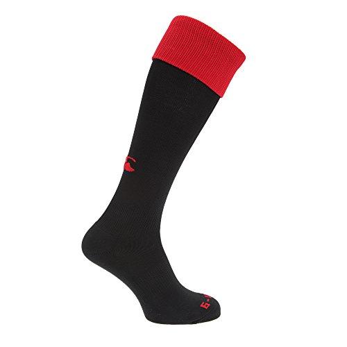 Canterbury Herren Rugby Sport-Socken (M) (Schwarz/Rot)