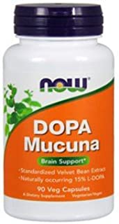 Now Foods Mucuna DOPA 15% Extract, 90 VCaps (Pack of 3)
