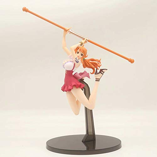 Yifuty Sailing One Piece Model King On The Top of The Decisive Battle Weather Lightning Strikes Nami Boxed Hand Office Aberdeen Ornaments Height 180mm A Gift for Relatives and Friends