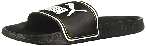 PUMA Leadcat Slide Sandal, Black Team Gold White, 11 M US