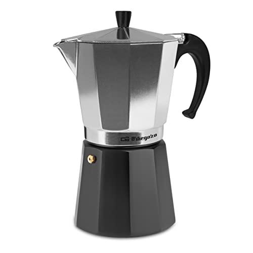 Orbegozo KFM 1230 – Cafetera italiana de aluminio, 12 tazas de capacidad, negro y silver