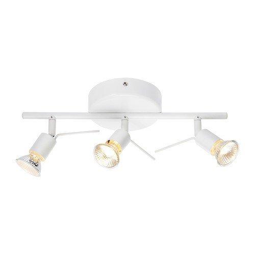 IKEA 7468853317127 A++, TROSS Deckenschiene 3 Spots, Stahl, weiß, 36 x 13 x 13 cm
