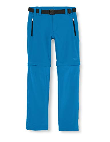 CMP Jungen Zip Off Dry Function Trousers Hose, Blue Teal, 152