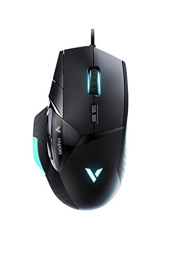 Rapoo VPRO VT900 optische Gaming-Maus, programmierbare Tasten, bis zu 16000DPI, OLED-Display, schwarz