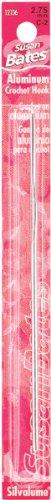 Susan Bates 5-1/2-Inch Silvalume Aluminum Crochet Hook, 5.5mm, Red