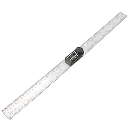 Goniómetro, hecho de acero inoxidable multifunción función clave fácil de leer regla de carpintería larga vida útil para medir ángulos exteriores de objetos (300 mm)