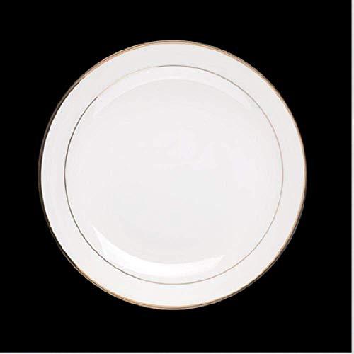 Mzxun Cocina Phnom Placa 6pieces placas occidentales Europea Punto occidental placa redonda occidental placa blanca hueso plato de porcelana