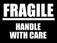 SK-057 FRAGILE 荷造りステッカー大 スーツケースや機材ケースに! (BLACK)