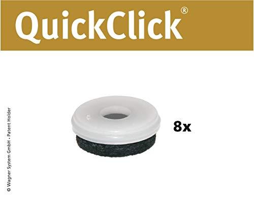 WAGNER QuickClick® stoelglijders // set van 8 reserveglijders //