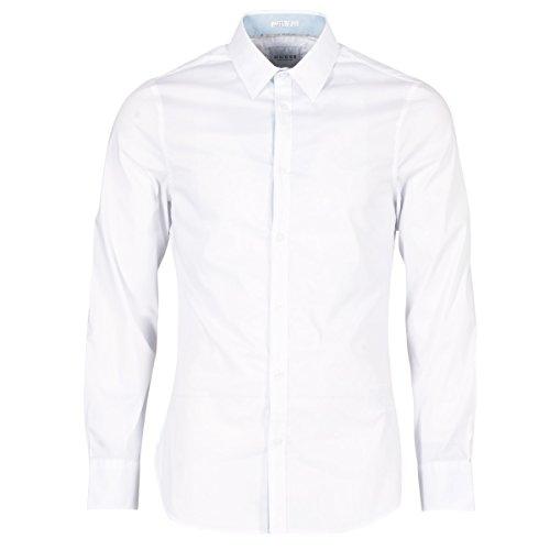 Guess Venice Hemden Herren Weiss - XXL - Langärmelige Hemden