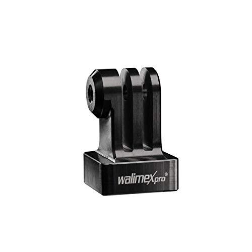 walimex Pro Aluminium GoPro statiefadapter (CNc gefreesd, geanodiseerd aluminium (1/4 inch op GoPro-Mount), geschikt voor GoPro Hero 6 5 4 3+ 3 2 1, Session en andere compatibele actiekamers) zwart
