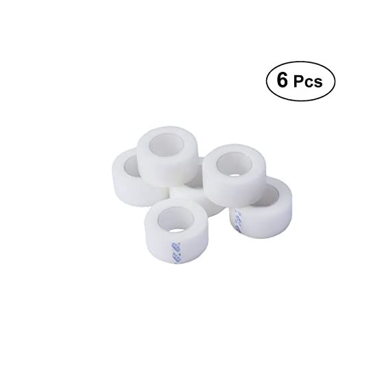 Healifty 6 rolls medical tape pressure for sensitive skin clear surgical tape pe microporous first aid tape 1 color: white. Material: pe. Size: approx. 10m x 15mm. Very strong, breathable, comfortable. Applied with medical adhesive glue, it will not cause wound infection.