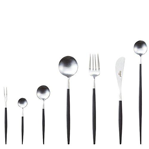 クチポール単品テーブルナイフGOAシルバー×ブラックGO.03