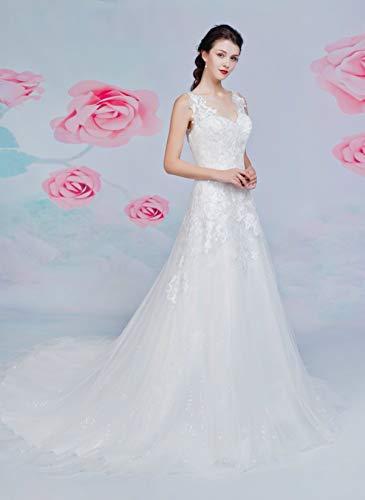 Brautkleid mit A-Linie-Silhouette und V-Ausschnitt - 4