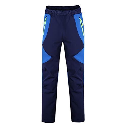 LAPLBEKE Niño Deporte al Aire Libre Pantalones de Trekking Pantalones de Montaña Softshell Pantalones Impermeable Pantalones Senderismo Niña Pantalones de EscaladaAzul 7-8 Años