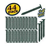 Window Shutters Panel Peg Lok Pin Screws Spikes 3 inch 48 Pack Fasteners (Heritage Green) Exterior Vinyl Shutter Hardware Strongest Made in USA