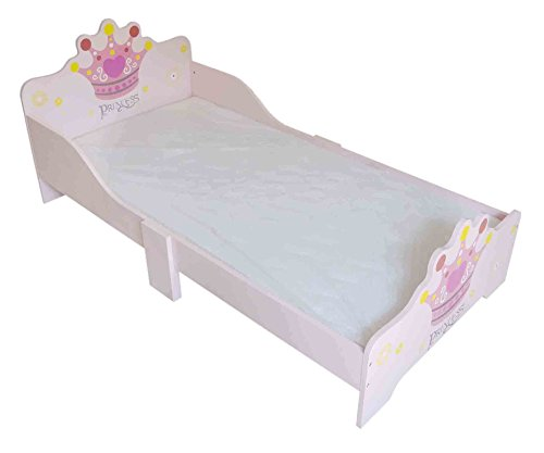 Kiddi Style Prinsessin bed & prinses kinderbed in roze – Princess kinderbed, tienerbed & speelbed voor meisjes – 140 cm x 70 cm