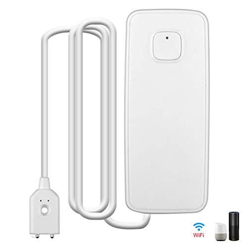 Mhomrs Smart WiFi Water Sensor Leak Detector Alarm IP67 Waterproof App Voice Control