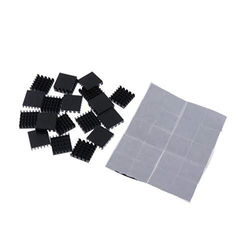 H HILABEE 20tlg Aluminium Kühlkörper Kühlmodul für Hochleistungs LED Verstärker Grafikkarte Transistor, 18x18x5mm