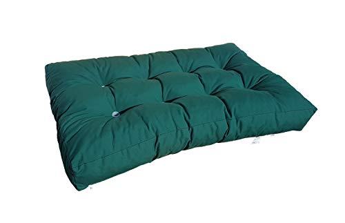 Cojin para palets cómodo, cojín para bancos (Asiento, verde)