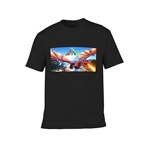 VJSDIUD Ark Survival Evolved Camiseta para niños y niñas Adolescentes con Cuello Redondo de Manga Corta 🔥