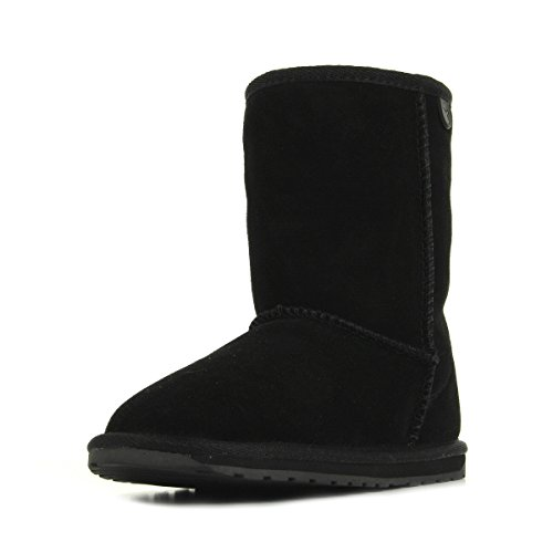 EMU Australia Wallaby Lo, Boots Mixte Enfant Noir (Black) 24 EU