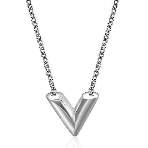 MUMUMI Fashion Letter Pendant Necklace, for Woman Stainless Steel Women, Necklace Jewelry Female Costume Accessories A/B/As Shown