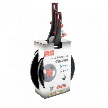 Pack 2 sartenes jata hogar sf3 tacana sf3 2024/ ø20cm/ ø24cm/ Aluminio Forjado/aptas para inducción