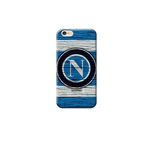 TheBigStock Cover Custodia per Tutti Modelli Apple iPhone x 8 7 6 6s 5 5s Plus 4 4s 5c TPU - G151 Logo sul Legno Napoli Calcio, iPhone X