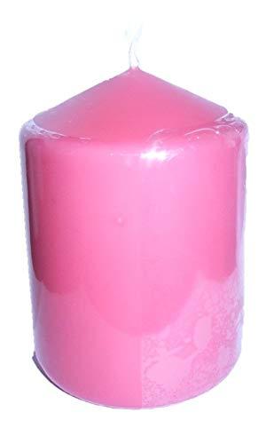 YUL Stumpen Kerzen Pink/Rhabarbarrot 100 x 80 mm (H x D) 100% in RAL Kerzen Qualität Deko, Party, Hochzeit, Weihnachten (3)