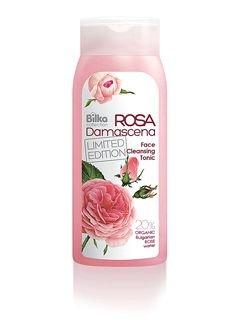 Lotion nettoyante hypoallergénique pour le visage avec de l'eau de rose naturelle.