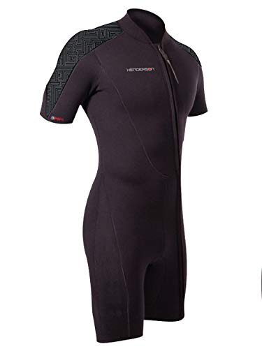 Henderson Thermoprene PRO Mens 3mm Front Zip Shorty Wetsuit M-Tall Black/Graphite